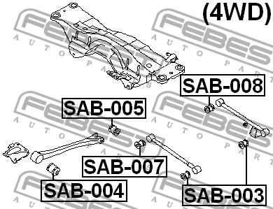 TULEJA WAHACZA WZDLUZNEGO TYL SUBARU IMPREZA G10(3,285087,282643) on 1999 Mitsubishi Pinin
